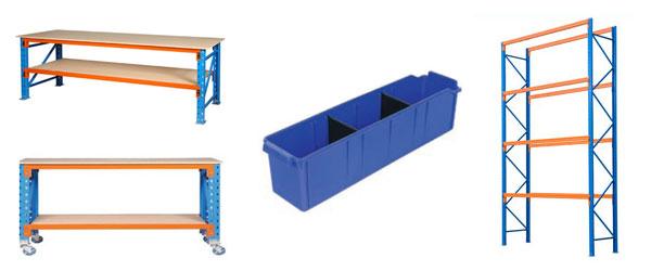 racking, bins and shelving