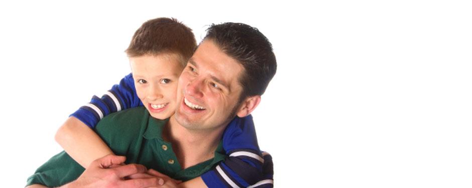 dad, son, happy