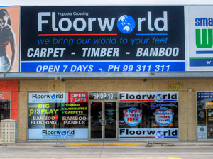 floorworld hoppers crossing store front