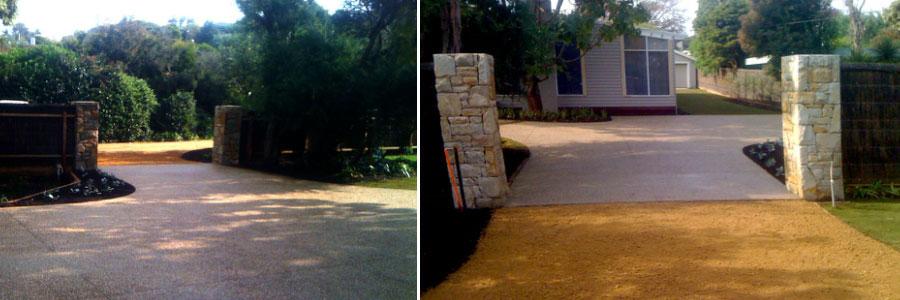 driveways, concrete driveways